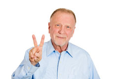 Two or peace sign Stock Photography