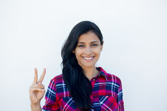 Two or peace sign Royalty Free Stock Image