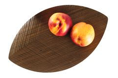 Two peaches. Royalty Free Stock Image