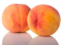 Two peaches Royalty Free Stock Images