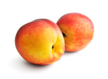 Two peaches Stock Photos
