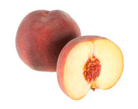 Two peaches isolated Royalty Free Stock Photo