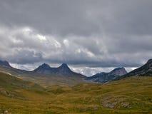 Two peak mountain Royalty Free Stock Images