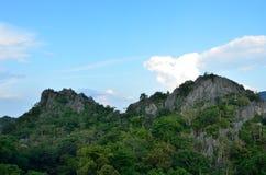 Two peak stone mountain Royalty Free Stock Images