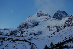 Two peaks in Rila. Royalty Free Stock Images