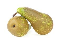 Free Two Pear Fruits Isolated On White Background, Clipping Path Royalty Free Stock Images - 177416979