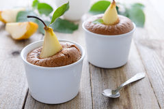 Free Two Pear Muffins Royalty Free Stock Images - 42113589