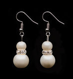 Two pearl earrings Stock Photography