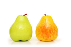 Two pears Stock Photos
