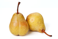 Two pears. On white with shadow Stock Photography