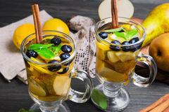 Two pears cocktails Stock Image
