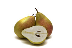Two pears and a half. Royalty Free Stock Images