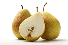 Two pears and a half Royalty Free Stock Photography