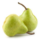 Two pears isolated Royalty Free Stock Images