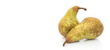 Two Pears Isolated On A White Background Stock Photography