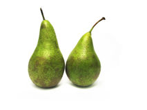 Two pears isolated on white. royalty free stock photography