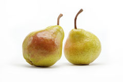 Two pears isolated on white. Background Royalty Free Stock Image