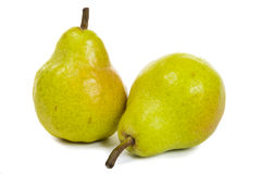 Two pears isolated on white Stock Photography