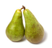Two pears isolated on the white background. Two pears isoladed on the white background Royalty Free Stock Photo