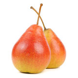 Two Pears Isolated on White Background Royalty Free Stock Photography