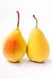 Two pears isolated on white background Royalty Free Stock Photos