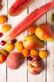 Two pears and other fruits Royalty Free Stock Image