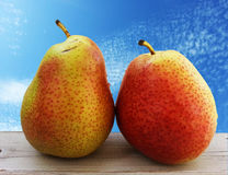 Two pears on the table Stock Photos