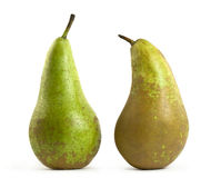 Two pears on white Stock Images
