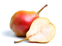 Two pears  on white Royalty Free Stock Photography