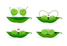 Free Two Peas In A Pod. Vector Illustration Stock Photos - 137213803