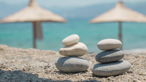 Spa pebbles tower Royalty Free Stock Image