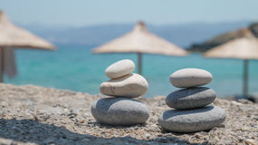 Spa pebbles tower Royalty Free Stock Photography
