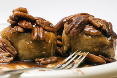 Two Pecan Sticky Buns Royalty Free Stock Photography