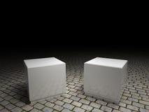 Two pedestals Stock Photos