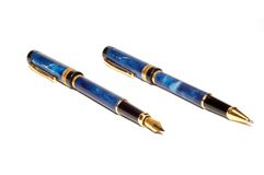 Two pen royalty free stock photos