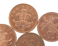 Two Pence coins  Stock Image
