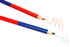 Two pencil Stock Image