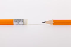 Two pencils on the white table Stock Photo