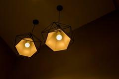 Two pendant lamp. Royalty Free Stock Photo