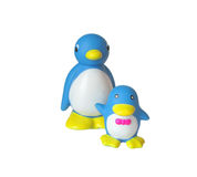 Two penguin. Toy mother penguin and the little penguin Stock Image