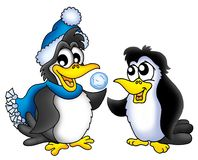 Two penguins. Color illustration of two penguins Stock Image
