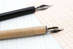 Two pens for calligraphy Stock Image