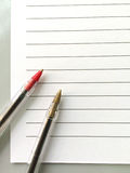 Two pens Royalty Free Stock Photos
