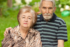 Two pensioners Stock Images