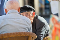 Two pensioners Royalty Free Stock Photo