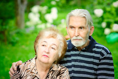 Two pensioners Royalty Free Stock Image