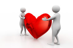 Two people with broken heart Royalty Free Stock Images