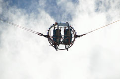 Two people in bungee ball Royalty Free Stock Photo