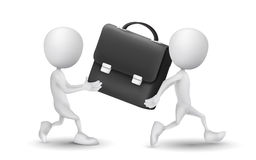Two people carried a briefcase Royalty Free Stock Images