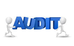 Two people carried a word. Audit Royalty Free Stock Image